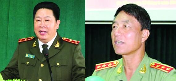 Hai cựu Thứ trưởng Bộ Công an Bùi Văn Thành và Trần Việt Tân
