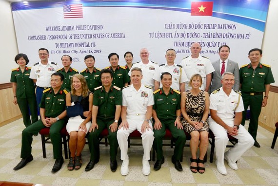 Đoàn đại biểu Bộ Tư lệnh Ấn Độ Dương – Thái Bình Dương (Hoa Kỳ) thăm Bệnh viện Quân y 175