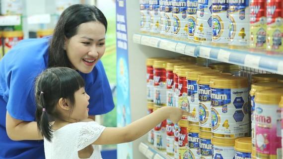 Vinamilk đa dạng hóa các dòng sản phẩm nhằm đáp ứng đầy đủ những nhu cầu về dinh dưỡng cho trẻ em