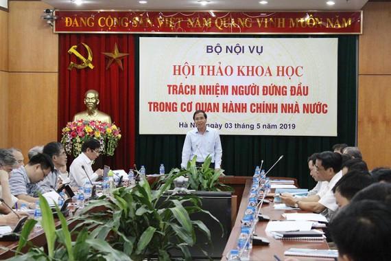 PGS TS Triệu Văn Cường - Thứ trưởng Bộ Nội vụ phát biểu khai mạc hội thảo