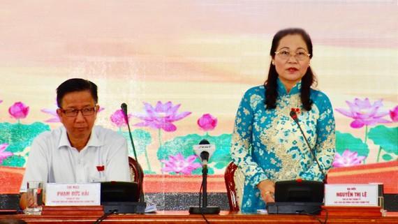 Phó Bí thư Thành ủy, Chủ tịch HĐND TPHCM Nguyễn Thị Lệ chủ trì phiên họp