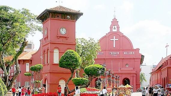 Khu vực ở thành phố Malacca (Malaysia) - nơi sử dụng ngôn ngữ Kristang