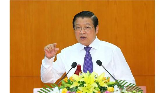 Đồng chí Phan Đình Trạc, Bí thư Trung ương Đảng, Trưởng Ban Nội chính Trung ương phát biểu. Ảnh: TTXVN