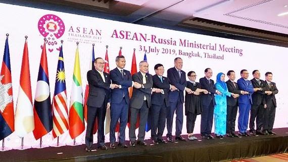 Các đại biểu dự Hội nghị Bộ trưởng Ngoại giao ASEAN-Nga.