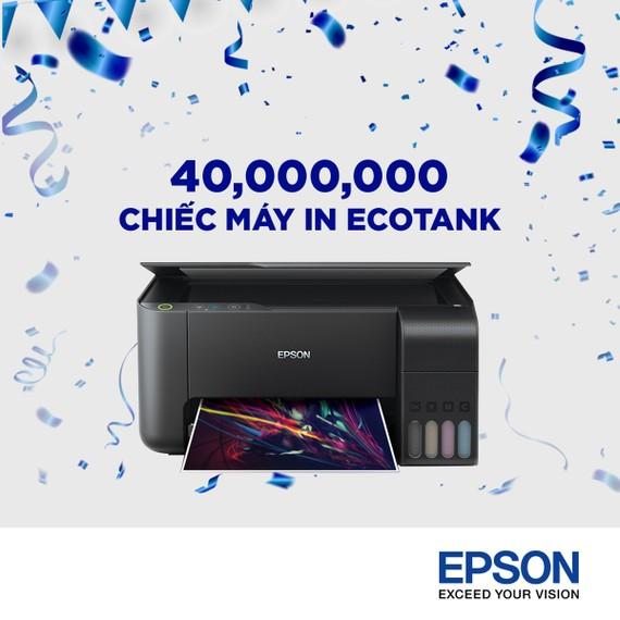 Epson cán mốc 40 triệu chiếc máy in phun được bán ra trên toàn cầu