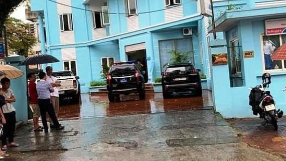 Hiện trường vụ cướp tiền ngân hàng Viettinbank ở TP Lào Cai