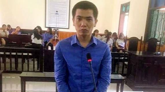 Bị cáo Hoàng Tuấn Vinh tại phiên tòa