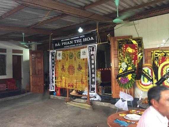Gia đình tổ chức đám tang cho nạn nhân Phan Thị H.