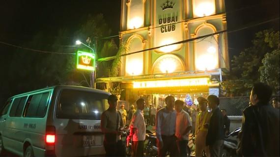Quán karaoke Dubai Club nơi xảy ra sự việc