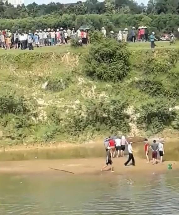 Khu vực hiện trường xảy ra vụ đuối nước