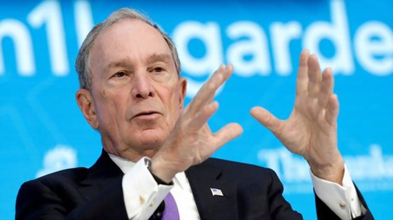 Cựu thị trưởng New York góp 4,5 triệu USD vì môi trường