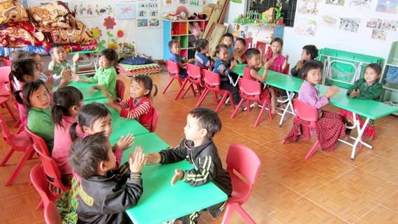 Phòng học khang trang cho trẻ mầm non ở Hà Giang
