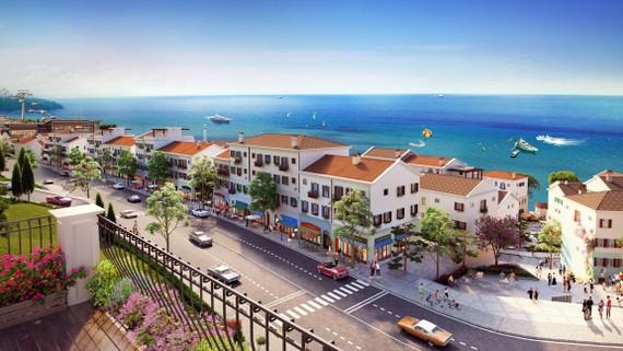 Dòng shophouse mới có tên Sun Premier Village Primavera được Sun Group đầu tư với thiết kế mang cảm hứng Amalfi, Địa Trung Hải