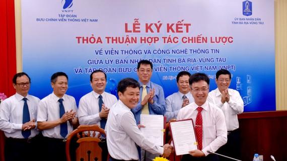 VNPT ký thỏa thuận hợp tác chiến lược về viễn thông và công nghệ thông tin với UBND tỉnh Bà Rịa- Vũng Tàu