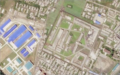 Hoạt động xây mới tại cơ sở sản xuất tên lửa Triều Tiên ở Hamhung. Ảnh: REUTERS