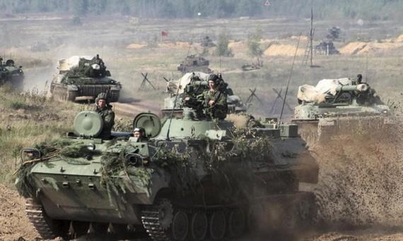 Binh sĩ Nga tham gia tập trận Zapad 2017. Ảnh: RT