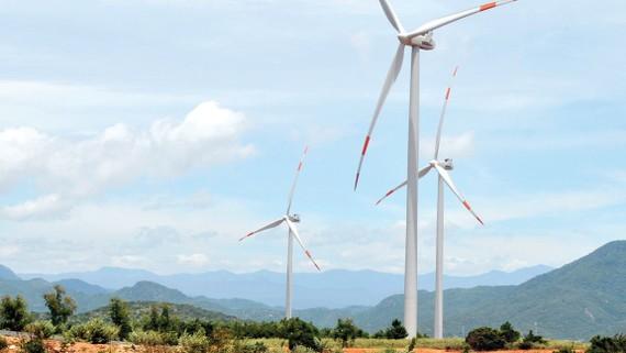 Điện gió, nguồn năng lượng xanh. Ảnh: CAO THĂNG
