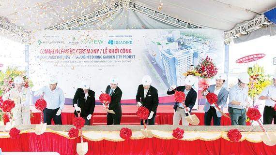 Hòa Bình khởi công Dự án Midori Park The View trị giá hơn 500 tỷ đồng