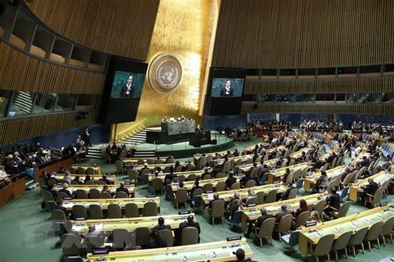 Một phiên họp của Đại hội đồng Liên hợp quốc. Nguồn: TTXVN