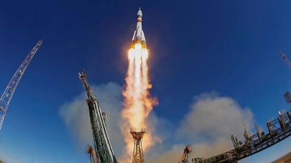 Tàu Soyuz MS-10 được phóng lên từ sân bay vũ trụ Baikonur ở Kazakhstan ngày 11-10-2018. REUTERS