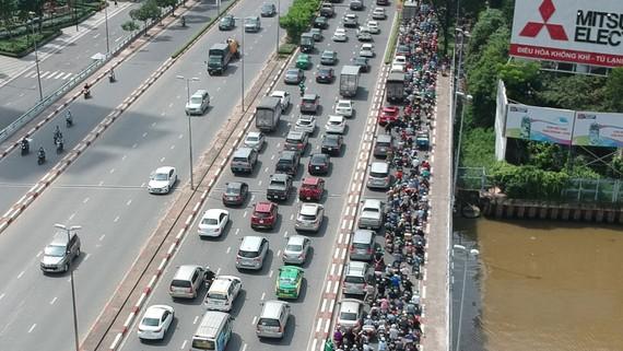 Một số người đang điều khiển phương tiện giao thông sử dụng bằng lái giả. Ảnh: THÀNH TRÍ