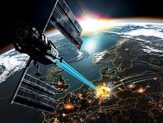 Mô phỏng một vụ tấn công từ vũ trụ. Ảnh: Popular Mechanics