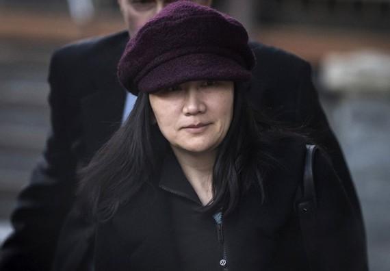 Bà Mạnh Vãn Châu đang được tại ngoại ở Vancouver. Ảnh: AP.
