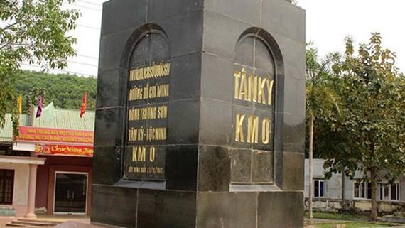 Di tích km số 0 đường Hồ Chí Minh tại thị trấn Lạt, huyện Tân Kỳ, tỉnh Nghệ An