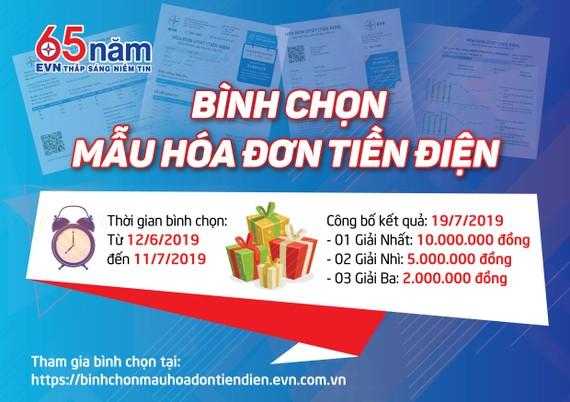 Bình chọn mẫu hóa đơn tiền điện mới