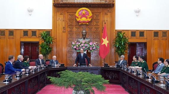 Thủ tướng Chính phủ Nguyễn Xuân Phúc phát biểu tại cuộc làm việc với Hội đồng Khoa học y tế. Ảnh: VGP