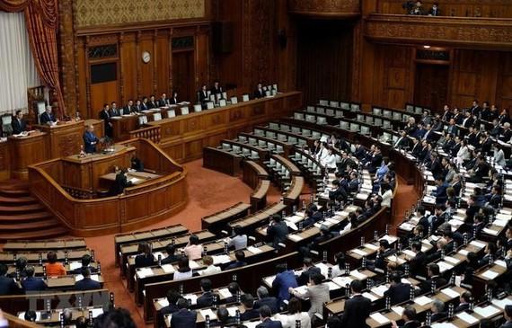 Toàn cảnh cuộc họp Thượng viện Nhật Bản tại Tokyo. Nguồn: TTXVN