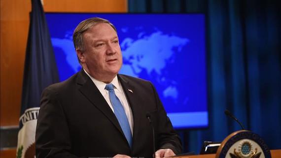 Ngoại trưởng Mỹ Mike Pompeo tuyên bố Mỹ chính thức rút khỏi Hiệp ước Các lực lượng hạt nhân tầm trung (INF). Nguồn TTXVN