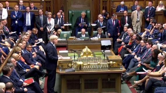 Thủ tướng Anh Boris Johnson phát biểu trong cuộc họp Hạ viện ở thủ đô London. (Nguồn: TTXVN