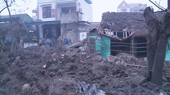 Hiện trường vụ nổ tại Bắc Ninh