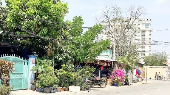 Khu nhà 13 căn của các cựu chiến binh tại đường Nguyễn Tư Nghiêm