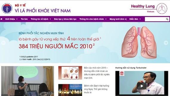 """Ra mắt trang điện tử """"Vì lá phổi khỏe"""""""