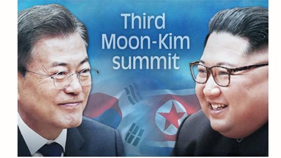 Cuộc gặp thượng đỉnh liên Triều lần thứ 3 sẽ diễn ra từ ngày 18 đến ngày 20-9. Ảnh: Yonhap