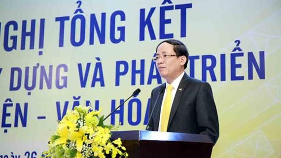 Ông Phạm Anh Tuấn, Chủ tịch Vietnam Post cho hay, Bưu điện văn hóa xã sẽ đóng góp 25%-30% doanh thu cho đơn vị này vào năm 2030. Ảnh: Vietnam+