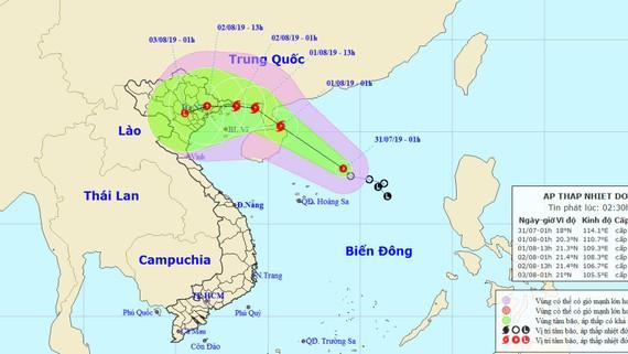 Rạng sáng 2-8, bão số 3 đổ bộ đất liền