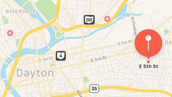 Tuyến phố East 5th thuộc Quận Oregon của thành phố Dayton, bang Ohio, Mỹ - nơi xảy ra vụ xả súng