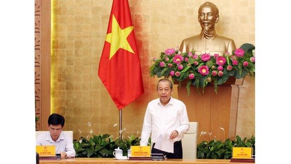 Phó Thủ tướng Trương Hòa Bình pháts biểu tại Hội nghị. Ảnh: VGP