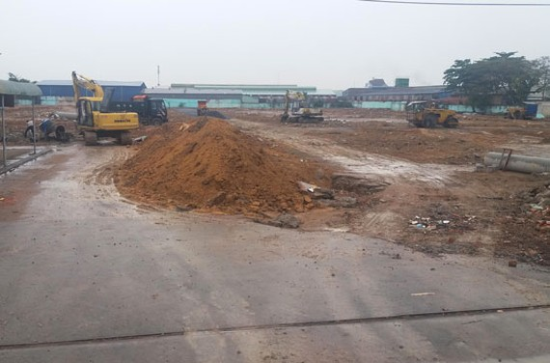 Dự án Thuận Giao đang gấp rút thi công hạ tầng.