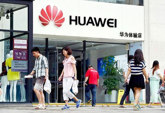Cửa hàng Huawei tại Bắc Kinh, Trung Quốc.