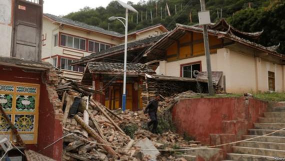 Hậu quả trận động đất ở Tứ Xuyên tháng 8-2017.