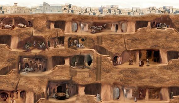 Sơ đồ 8 tầng ngầm mở cửa cho công chúng tham quan.