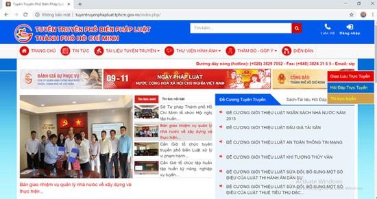 Cổng thông tin tuyên truyền pháp luật TPHCM.