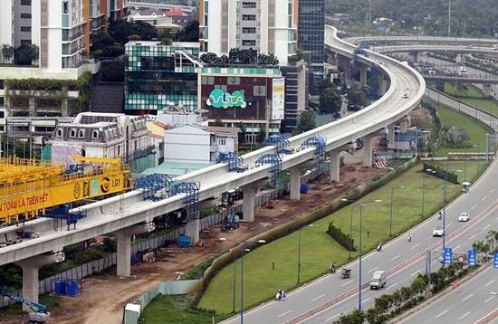 Tuyến metro số 1 đang được khẩn trương hoàn thiện.