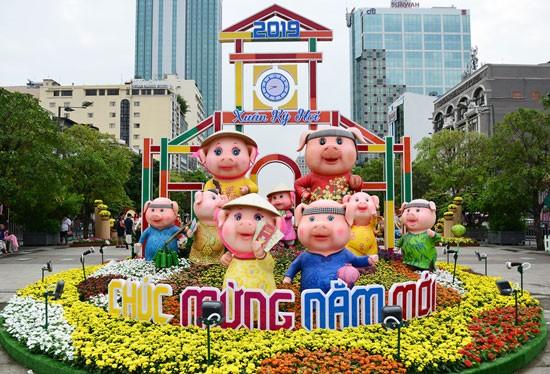 Đường hoa Nguyễn Huệ Xuân 2019.