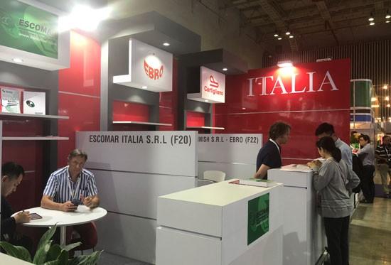 DN Italia chia sẻ thông tin với DN Việt Nam tại triển lãm quốc tế ngành da giày 2019.