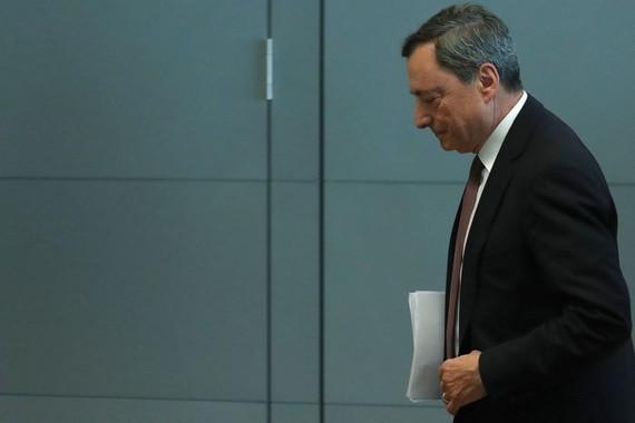 ECB President Mario Draghi unveiled fresh economic forecasts on Thursday. PHOTO: KRISZTIAN BOCSI/BLOOMBERG NEWS